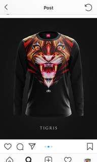 Drib Black (Tigris) Size XS / Long Sleve