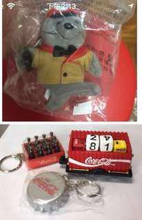 可口可樂擺設和鎖匙扣
