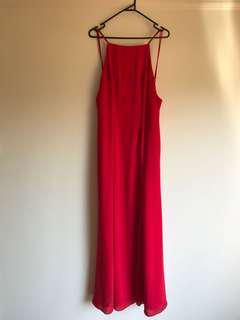 Red Backless Formal Dress