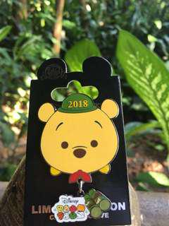 [包順豐]Pooh/2018 Tsum Tsum Event / Disney Pin/ Disney friend/ cast exclusive/ LE/ 迪士尼襟章/小熊維尼/員工限量