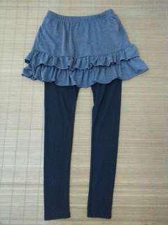 蛋糕褲裙、藍條紋薄罩衫(可換物)