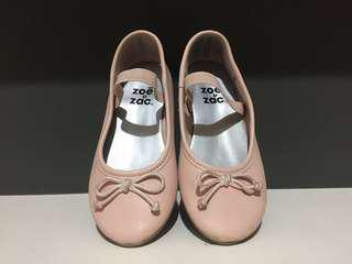 Zoe and Zac Peach Ballet Flats