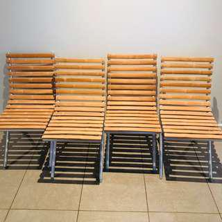 Ikea Outdoor Folding Chairs (4 available)