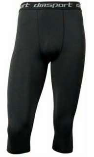 mens tranning dry fit tights 34 pants colour black
