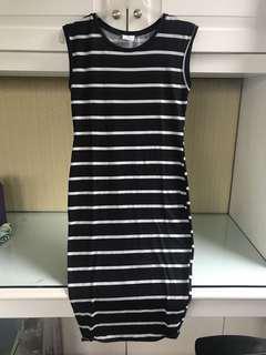 ZARA Striped Dress (panjang)