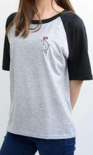 Cute dolphin embroidery (free shipping nz)