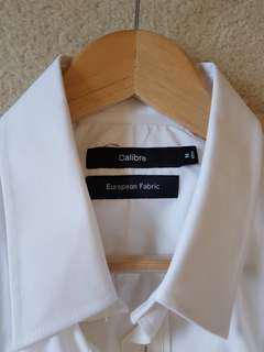 Calibre European Fabric White Shirt Size M Slim Fit BNWT