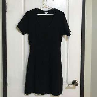 XOXO black knit dress