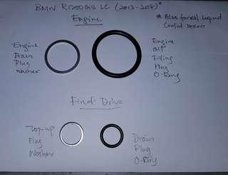 Service Kit- BMW R1200GS Adventure LC(2013-2018) O-rings and Washers