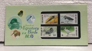 香港候鳥郵票套摺