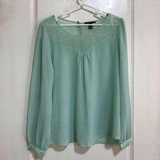 Forever21 mint green longsleeves