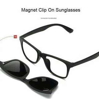 Kacamata Pria dan wanita Clip on magnet 5 lensa