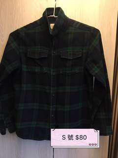🚚 格子襯衫$80