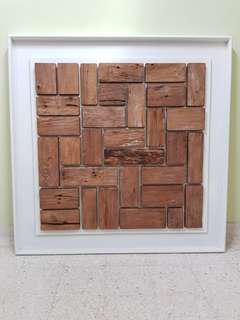 Framed Teak Decor