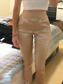 Meshki champagne pants