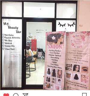Takeover salon / pintu aluminium