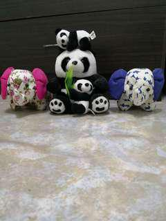 Panda and elephant soft toys (buy all for only $2)