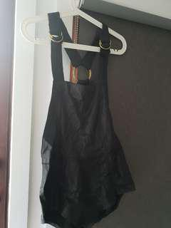 Friend of mine leather playsuit