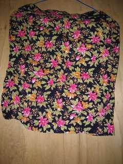 Rok mini motif bunga