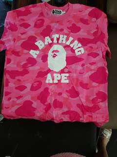 Bathing ape pink tshirt