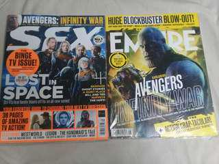 Avengers Infinity War Mags Combo: Entertainment Weekly - SFX Mag Issue 299 May 2018 & Empire Mag May 2018