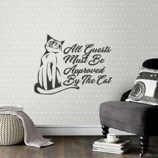 Wall Decals - Cats - 45cm(W) X 35cm(Ht)