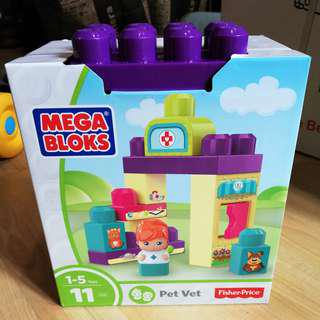 🆕💯 Mega Bloks Pet Vet