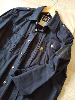G-Star Anderson Rotar Oxford Shirt Navy Size M