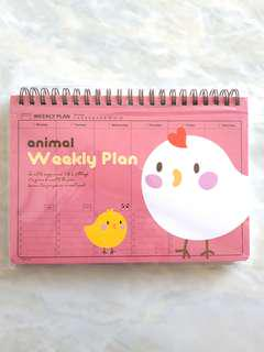 Animal Weekly Plan Agenda Planner Ayam