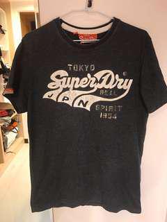 🚚 Superdry深灰T