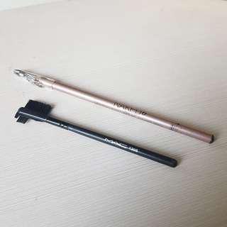 PENSIL ALIS NAKED 6 + KUAS ALIS MAC (Eyebrow Brush KW Not Ori)