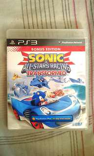 PS3  Racing 🏁 Game~ SONIC & ALL STARS RACING TRANSFORMED ( English Version). 100% WORKING GAME & NO SCRATCHES ON DISC 👍 💿!!!. ** PLEASE REPLY ME IN ENGLISH!!! 🤗 **
