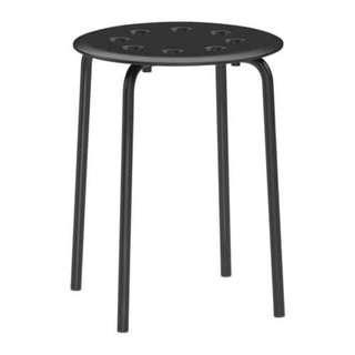 IKEA MARIUS Bangku Hitam Baja