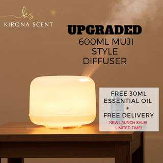 NEW 600ml Muji style Aroma Diffuser.Humidifier.Essential Oil