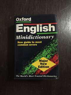 Oxford English Mini Dictionary (New guide to most common errors
