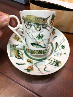 🚚 歐洲帶回古董杯盤組兩入