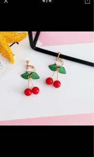 Cherry earring clip on