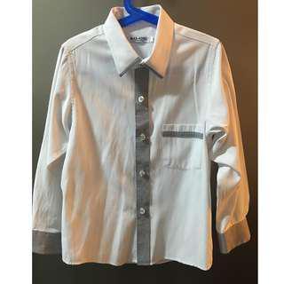 Maxcool Boy's White Long Sleeves Shirt Size 10