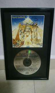 Iron Maiden Steve & Dave autographed.