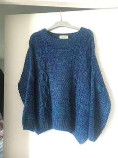 Duo blue knit jumper