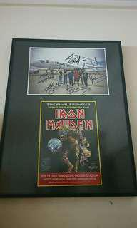 Iron Maiden group signed frame