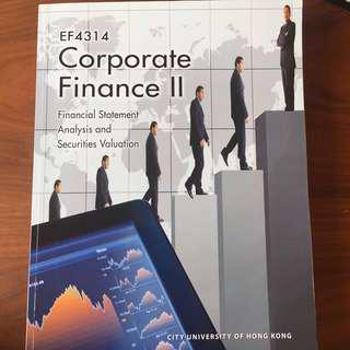 Corporate Finance II: Financial Statement Analysis and Securities Valuation