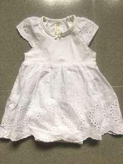 H & M BB衫白色連身裙(九成新)
