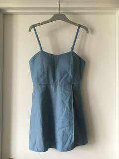 Blue chambray dress