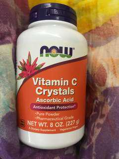 NOW vitamin C crystals (pure powder)
