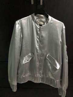 🚚 H&M silver bomber jacket