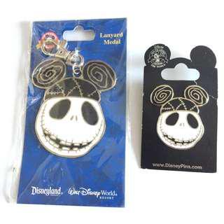 美國迪士尼Disney  Nightmare Before Christmas 怪誔城之夜 Jack 傑克  pin 徽章 襟章 +珍寶吊飾