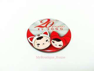 🌟20th Happy Birthday KL Sogo Pin Badge
