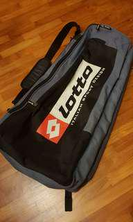 Rare Slim Design Lotto Tennis 4 Racquet Bag