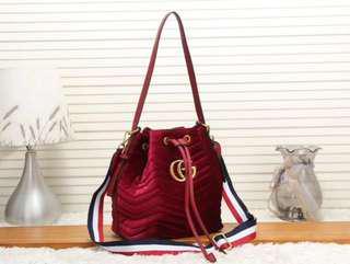 $250 Promo Gucci Marmont Velvet Bucket Bag